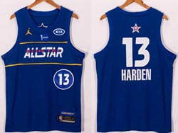 Mens 2021 All Star Nba Brooklyn Nets #13 James Harden Blue Kia Patch Jordan Brand Jersey