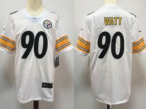 Mens Nfl Pittsburgh Steelers #90 Jj Watt White Vapor Untouchable Limited Nike Jersey