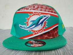 Mens Nfl Miami Dolphins Falt Snapback Adjustable Hats Multicolor