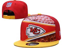 Mens Nfl Kansas City Chiefs Falt Snapback Adjustable Hats Multicolor