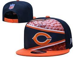 Mens Nfl Chicago Bears Falt Snapback Adjustable Hats Multicolor