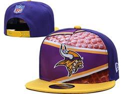 Mens Nfl Minnesota Vikings Falt Snapback Adjustable Hats Multicolor