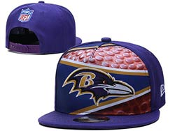 Mens Nfl Baltimore Ravens Falt Snapback Adjustable Hats Multicolor