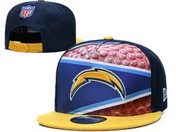Mens Nfl Los Angeles Chargers Falt Snapback Adjustable Hats Multicolor