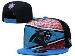 Mens Nfl Carolina Panthers Falt Snapback Adjustable Hats Multicolor