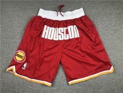 Mens Nba Houston Rockets Red Mitchell&ness Just Don Pocket Shorts