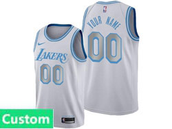 Mens Womens Youth 2021 Nba Los Angeles Lakers Custom Made White City Edition Swingman Nike Jersey
