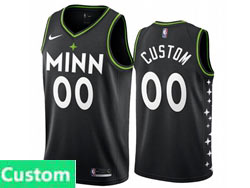 Mens Womens Youth 2021 Nba Minnesota Timberwolves Custom Made Black City Edition Nike Swingman Jersey
