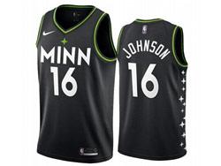 Mens 2021 Nba Minnesota Timberwolves #16 James Johnson Black City Edition Nike Swingman Jersey