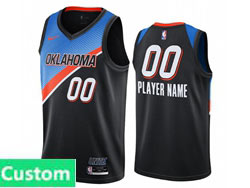Mens Womens Youth 2021 Nba Oklahoma City Thunder Custom Made Black City Edition Nike Swingman Jersey