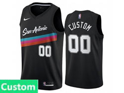 Mens Womens Youth 2021 Nba San Antonio Spurs Spurs Custom Made Black City Edition Nike Swingman Jersey