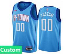 Mens Womens Youth 2021 Nba Houston Rockets Custom Made Light Blue City Edition Nike Swingman Jersey