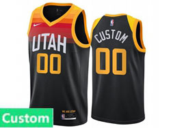 Mens Womens Youth 2021 Nba Utah Jazz Custom Made Black City Edition Nike Swingman Jersey