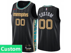 Mens Womens Youth 2021 Nba Memphis Grizzlies Custom Made Black City Edition Nike Swingman Jersey