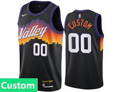 Mens Womens Youth 2021 Nba Phoenix Suns Custom Made Black City Edition Nike Swingman Jersey