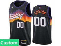 Mens Womens Youth 2021 Nba Phoenix Suns Custom Made Black City Edition Nike Swingman Jersey