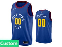 Mens Womens Youth Nba Denver Nuggets Custom Made Blue Statement Edition Nike Swingman Jersey
