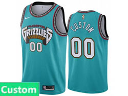 Mens Womens Youth Nba Memphis Grizzlies Custom Made Green Hardwood Classics Nike Swingman Jersey