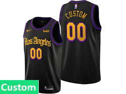 Mens Womens Youth 2019-20 Nba Los Angeles Lakers Custom Made Black Nike Swingman Jersey