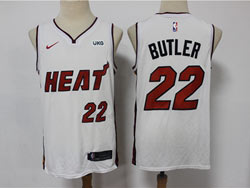 Mens 2021 Nba Miami Heat #22 Jimmy Butler White Nike Swingman Jersey