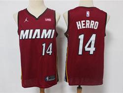 Mens 2021 Nba Miami Heat #14 Tyler Herro Red Jordan Brand Swingman Jersey