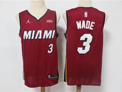 Mens 2021 Nba Miami Heat #3 Dwyane Wade Red Jordan Brand Swingman Jersey