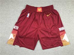 Mens Nba Denver Nuggets Red City Edition Nike Shorts