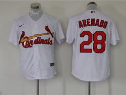 Mens Mlb St.louis Cardinals #28 Nolan Arenado White Cool Base Nike Jersey
