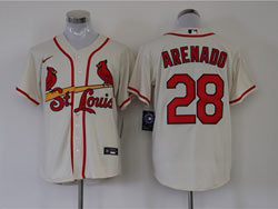 Mens Mlb St.louis Cardinals #28 Nolan Arenado Cream Cool Base Nike Jersey