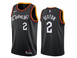Mens 2021 Nba Cleveland Cavaliers #2 Collin Sexton Black City Edition Swingman Nike Jersey