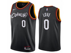 Mens 2021 Nba Cleveland Cavaliers #0 Kevin Love Black City Edition Swingman Nike Jersey