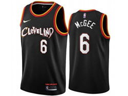 Mens 2021 Nba Cleveland Cavaliers #6 Mcgee Black City Edition Swingman Nike Jersey