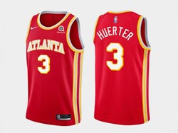 Mens Nba Atlanta Hawks #3 Kevin Huerter Red 2020-21 Icon Edition Swingman Nike Jersey