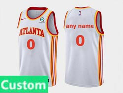 Mens Women Youth Nba Atlanta Hawks Custom Made White 2020-21 Icon Edition Swingman Nike Jersey