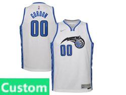 Mens Womens Youth 2020-21 Nba Orlando Magic Custom Made White Earned Edition Swingman Nike Jersey