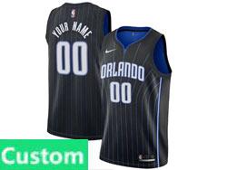 Mens Womens Youth 2020-21 Nba Orlando Magic Custom Made Black Icon Edition Swingman Nike Jersey
