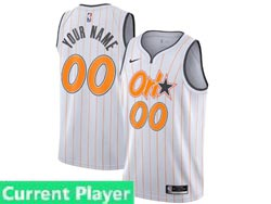 Mens Womens Youth 2021 Nba Orlando Magic Current Player White (orange Stripe) City Edition Nike Swingman Jersey