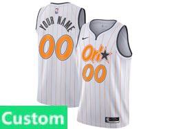 Mens Womens Youth 2021 Nba Orlando Magic Custom Made White (orange Stripe) City Edition Nike Swingman Jersey