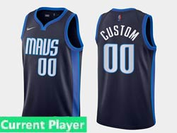 Mens Womens Youth 2021 Nba Dallas Mavericks Current Player Navy Earned Edition Nike Swingman Jersey