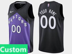 Mens Womens Youth 2021 Nba Toronto Raptors Custom Made Black/purple Earned Edition Nike Swingman Jersey