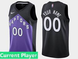 Mens Womens Youth 2021 Nba Toronto Raptors Current Player Black/purple Earned Edition Nike Swingman Jersey