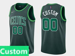 Mens Women Youth 2021 Nba Boston Celtics Boston Custom Made Green Earned Edition Nike Swingman Jersey