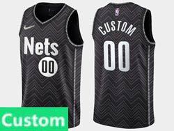Mens Women Youth 2021 Nba Brooklyn Nets Custom Made Black Earned Edition Swingman Nike Jersey