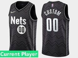 Mens Women Youth 2021 Nba Brooklyn Nets Current Player Black Earned Edition Swingman Nike Jersey