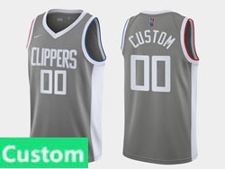 Mens Womens Youth 2021 Nba Los Angeles Clippers Custom Made Gray Earned Edition Nike Swingman Jersey