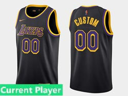 Mens Women Youth 2021 Nba Los Angeles Lakers Current Player Black Earned Edition Nike Swingman Jersey