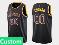 Mens Womens Youth 2021 Nba Los Angeles Lakers Custom Made Black Earned Edition Nike Swingman Jersey