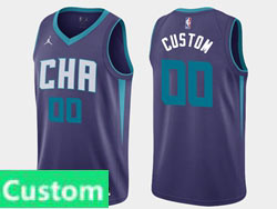 Mens Women Youth 2021 Nba Charlotte Hornets Custom Made Jordan Brand Purple Statement Edition Swingman Jersey