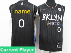 Mens Women Youth 2021 Nba Brooklyn Nets Current Player Black Motorola Logo City Edition Nike Swingman Jersey