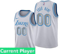 Mens Women Youth 2021 Nba Los Angeles Lakers Current Player White City Edition Swingman Nike Jersey